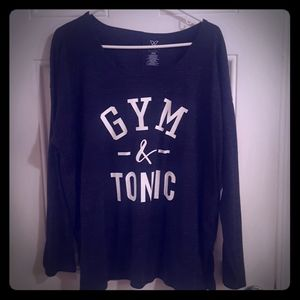 Gym and Tonic. Long sleeve t-shirt